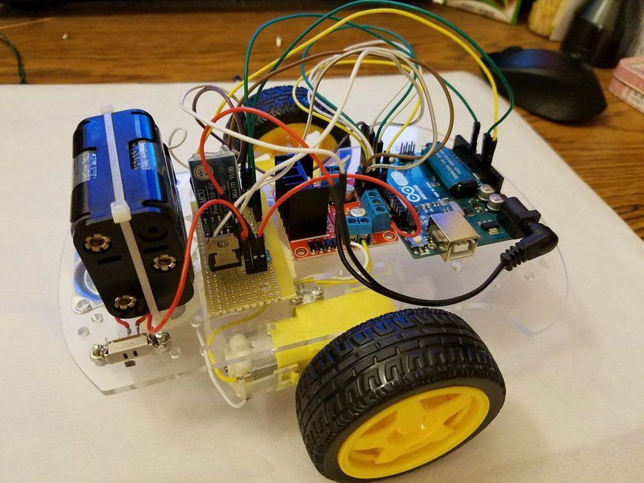 Arduino Bluetooth Car Controlled by Labview   Arduino
