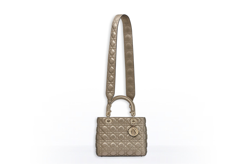 a98fb59f2133 Supple lady dior bag in light gold metallic grained calfskin - Dior ...