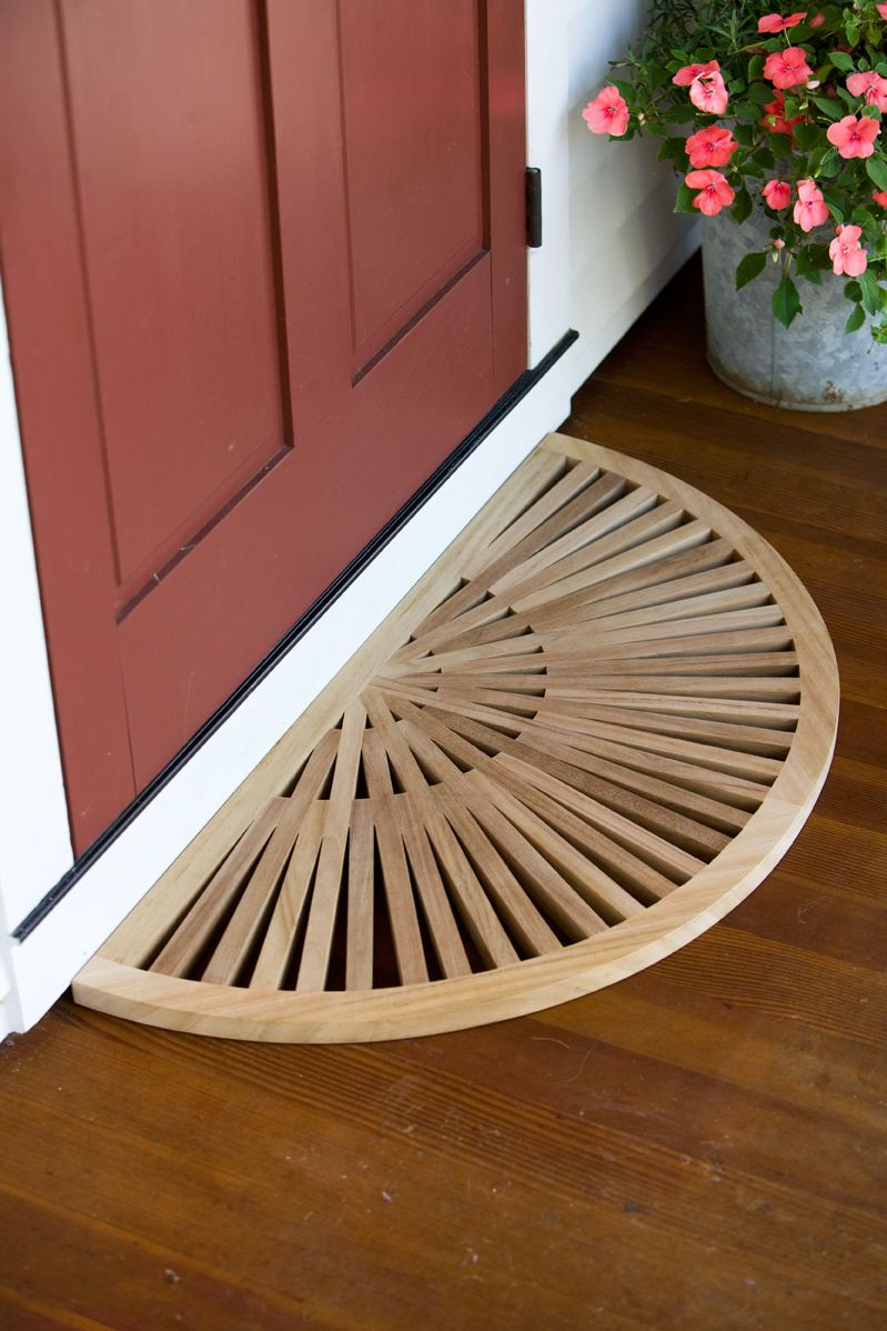 Half Round Teak Doormat   Buy From Gardeneru0027s Supply