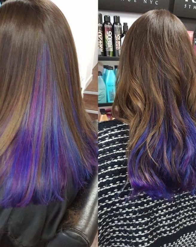 Schatten #underlights #hair # #Ombre #underlights #hair underlights Haar #hair #ombre #Shad #frisuren2020mitpony