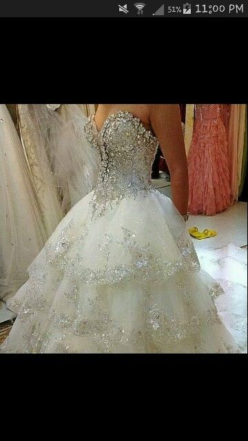 Beautiful jewel wedding dress