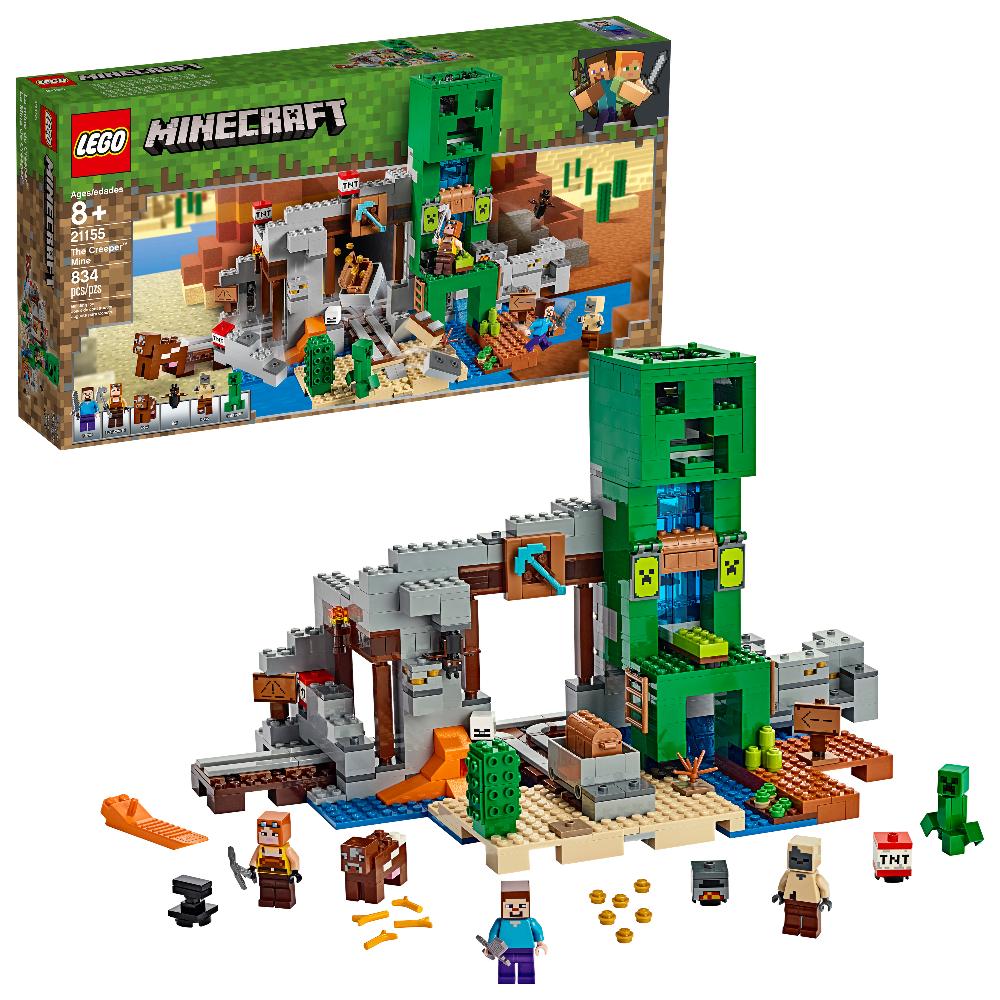 LEGO Minecraft The Creeper Mine 12 Toy Rail Track Building Set