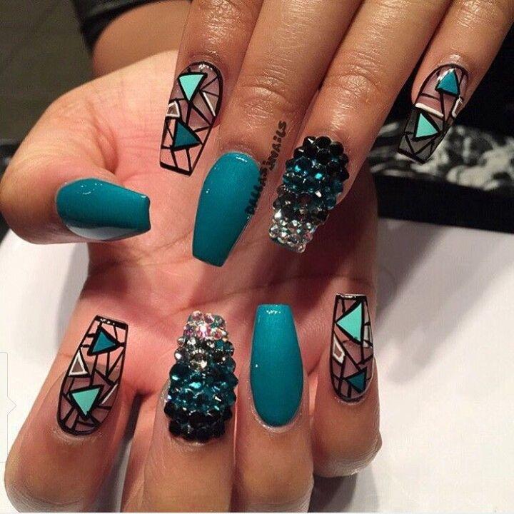 Nail art long nails tmm pinterest nails coffin nail art design for fall prinsesfo Gallery