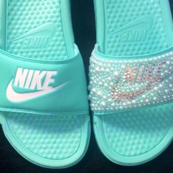 Bedazzled Shoes, Bling Shoes, Bling Sandals, Customised Shoes, Custom Shoes,  Nike Sandals, Nike Slides, Nike Presto, Nike Gear