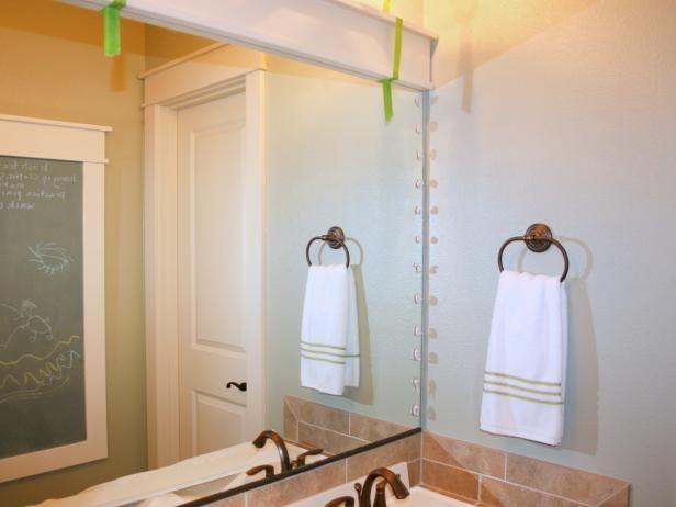How to Frame a Mirror   Bathroom mirrors, Hgtv and Mirror bathroom