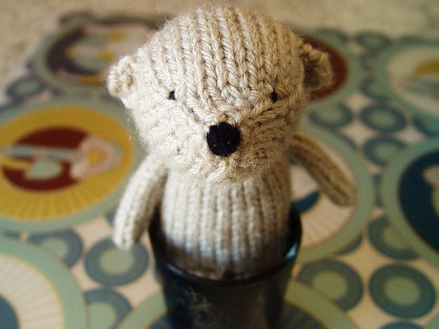 Free Knitted Amigurumi : Free knitting pattern for henri small bear toy teddy bear