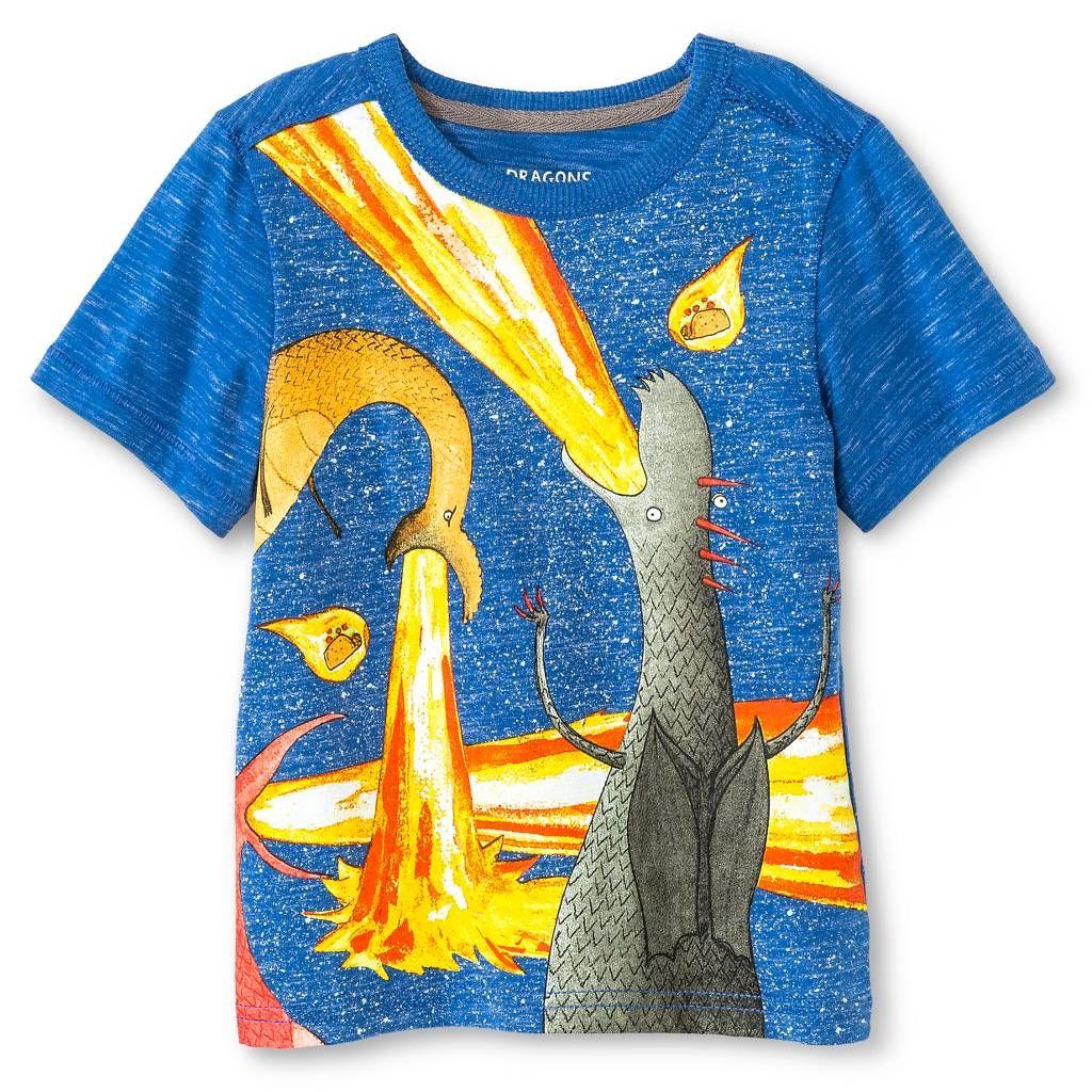 Toddler Boys Dragons Love Tacos Tee Shirt