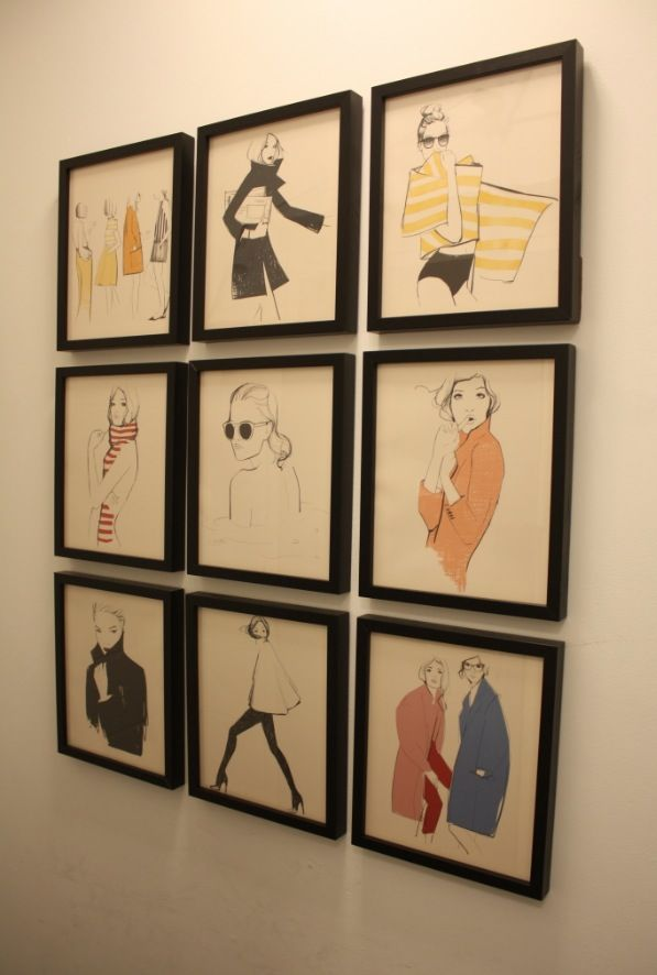 Framed illustrations from the 2015 Garance Dore for Rifle Paper Co ...