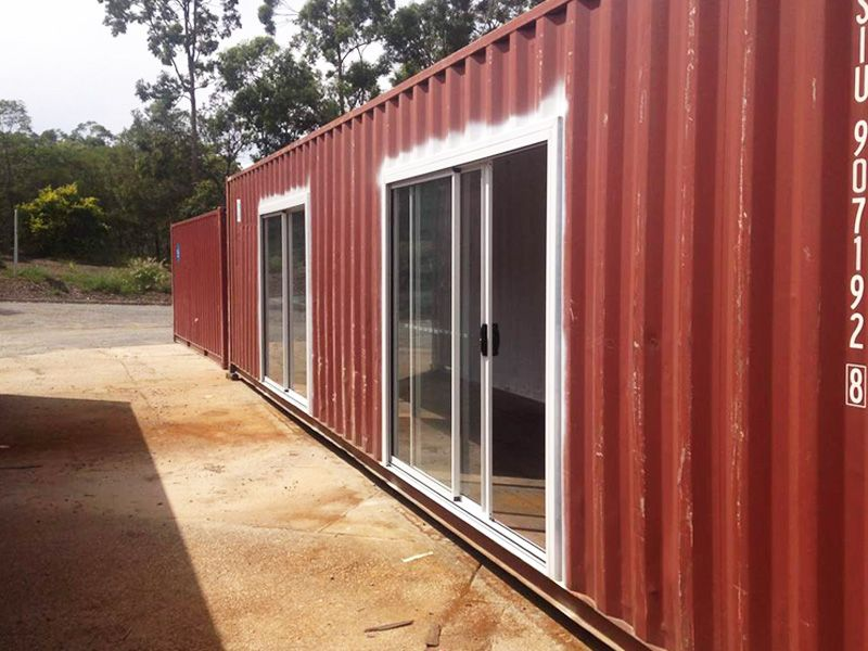 12m 40ft Modified Shipping Container With Glass Sliding