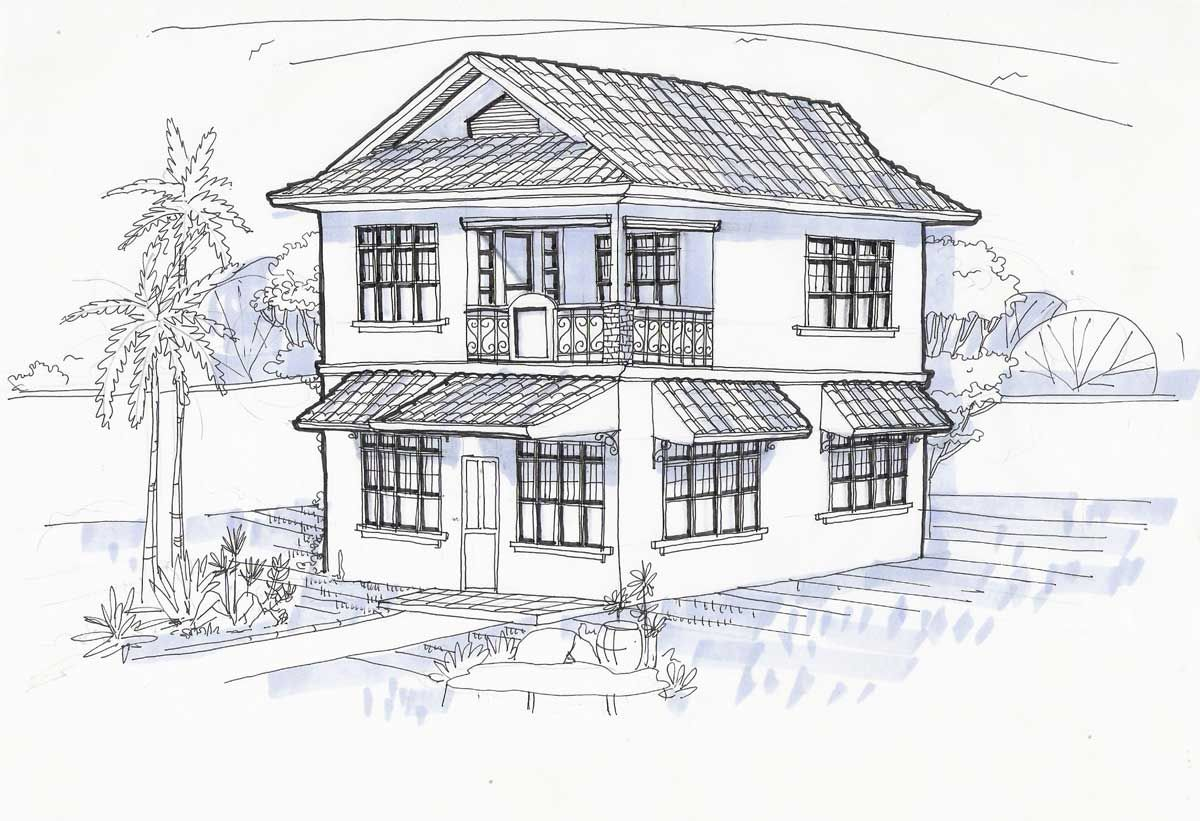 Image Detail For Perspective Drawing For Our Tigbauan House 01 Art Pinterest
