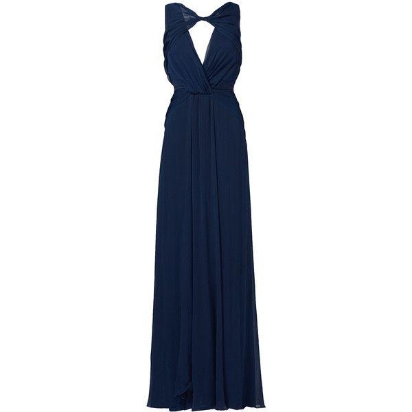 Rental Badgley Mischka Navy Petunia Gown ($115) via Polyvore ...
