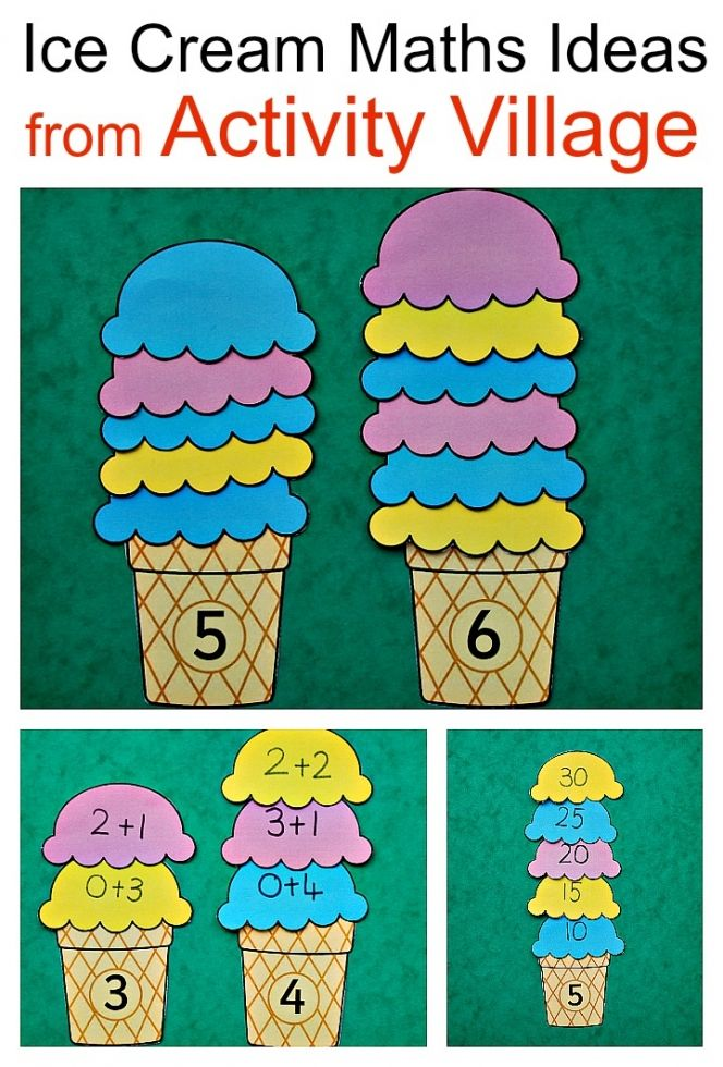 Ice Cream Maths Ideas using a printable from the Activity Village ...