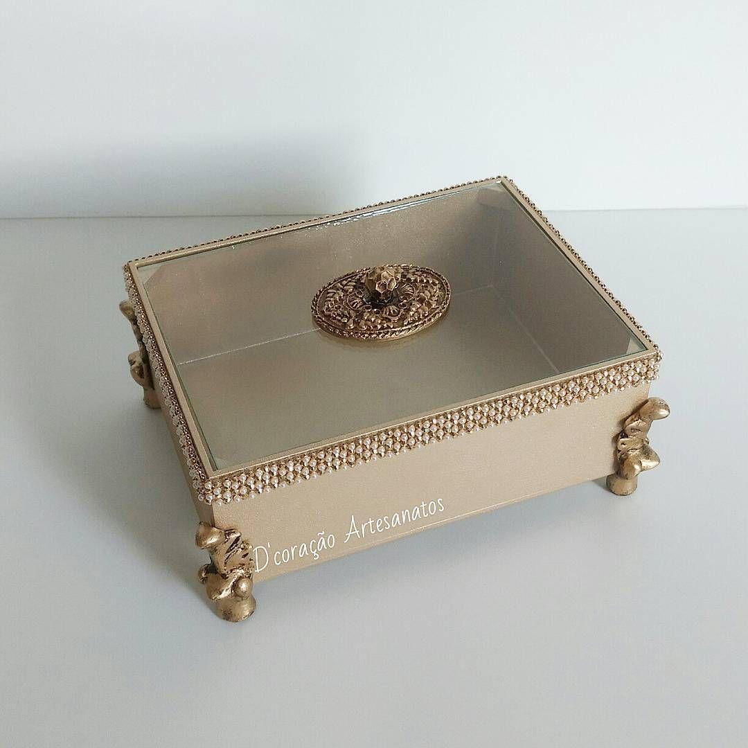 Caixa para decoraç u00e3o com tampa de vidro #caixinhadecorada #caixaparadecoracao #caixadecorada #  -> Decoracao Com Tampa De Vidro