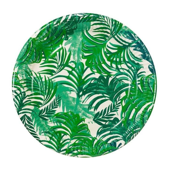 Fancy Frond Paper Plates Paper Plates Party Fiesta Party Supplies Tropical Party