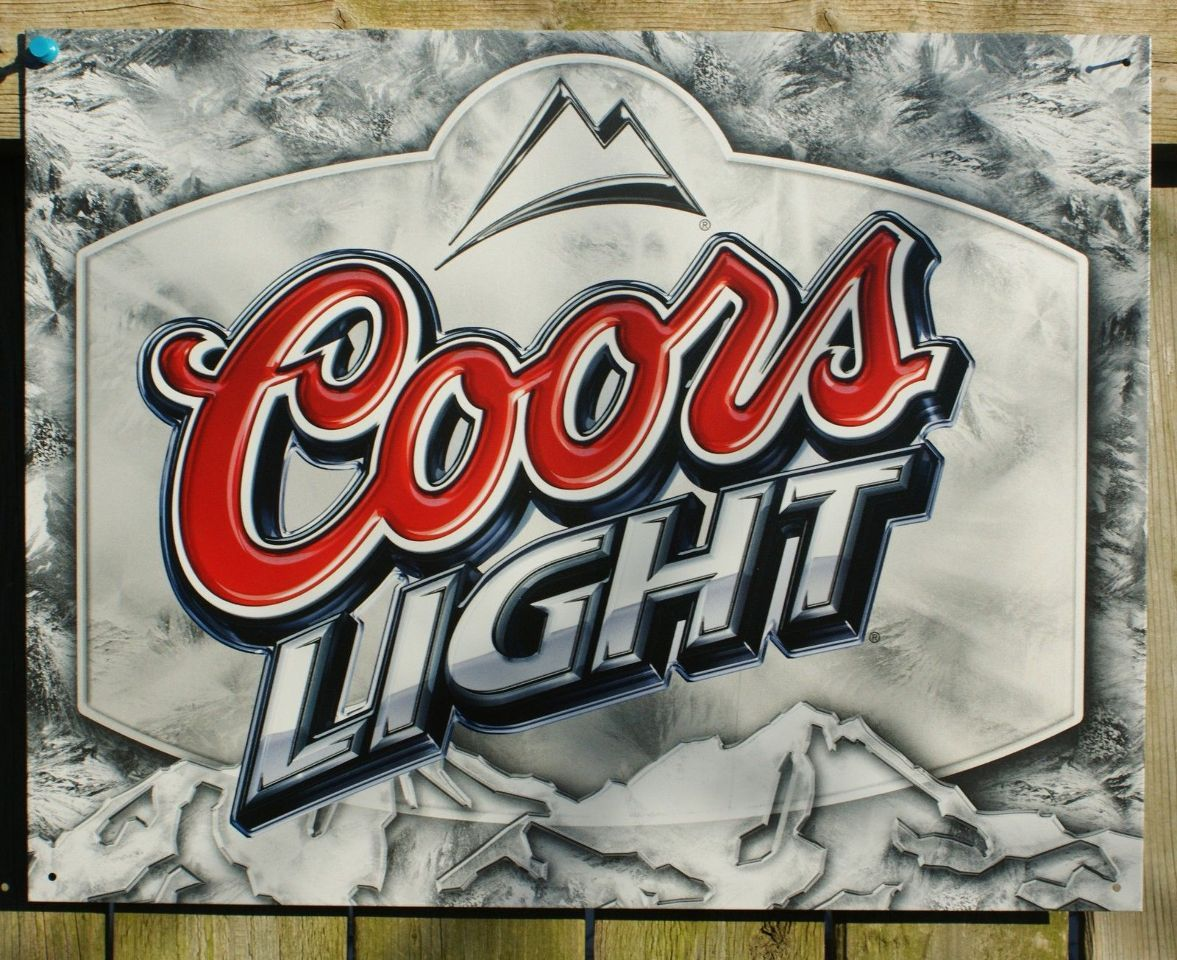 Pin coors light label tin metal sign garage rockies bar beer pin coors light label tin metal sign garage rockies bar beer alcohol whiskey 5a aloadofball Images
