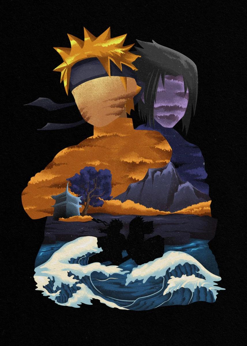 Naruto Sasuke Ukiyo e