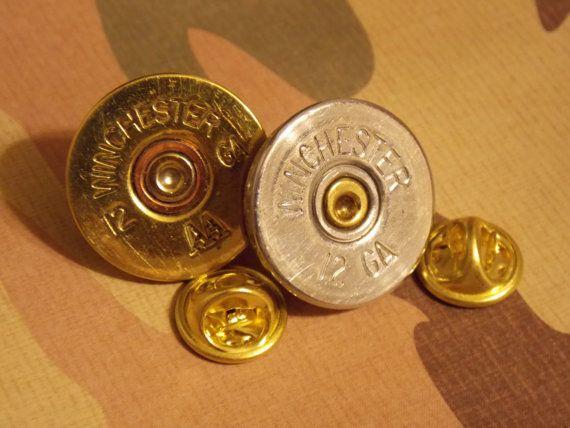 Bullet jewelry, Tie Tacks, Shotgun shell, hat tacks, cap tacks,hat pin, Men's gift, Father's Day Gift