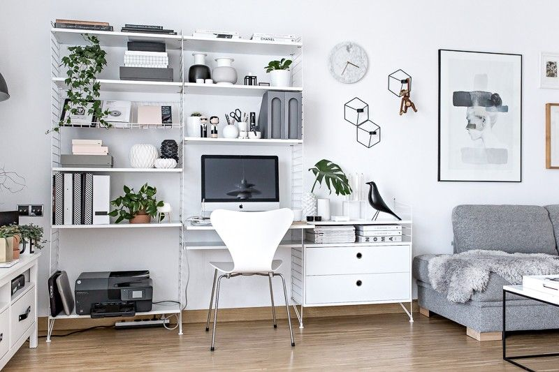 Home Office Scandinavian Workspace Www My Full House Com Home Office Design Home Living Room Scandinavian