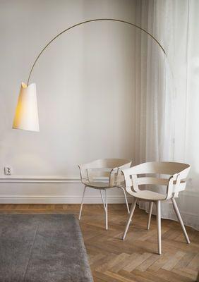 Fauteuil Wick / 4 pieds Chêne naturel / Pieds chromés - Design House Stockholm