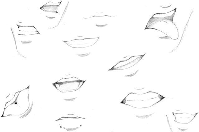 Draw Anime Anime Mouth Drawing Mouth Drawing Drawing Expressions