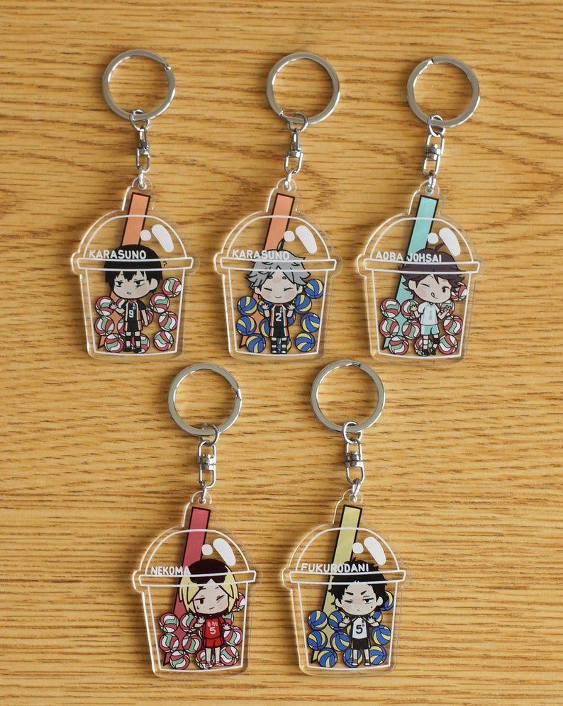 Haikyuu Pretty Setter Squad Acrylic Charm In 2020 Acrylic Charms Haikyuu Anime Accessories