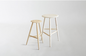 Sawkille Co Drink Stool In Bleached Maple Bar Stools Stool