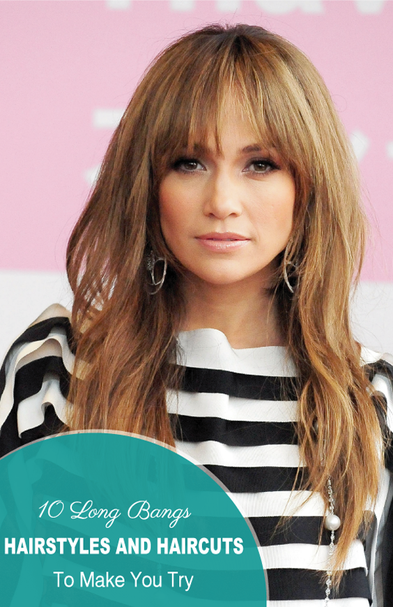 10 Long Bangs Hairstyles And Haircuts To Make You Try Pinterest