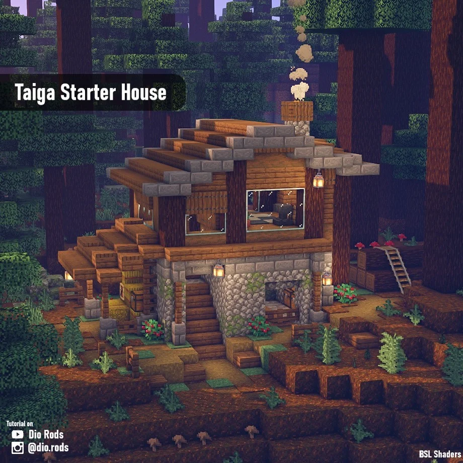 I decided to make a starter house for each biome..
