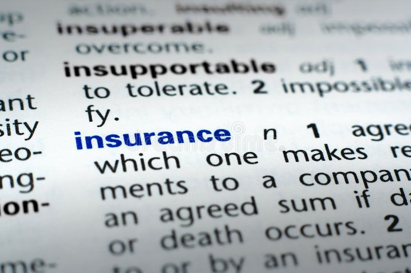 Definition Of Insurance The Word Insurance In A Dictionary Word