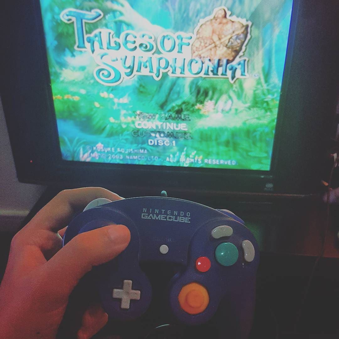 Shared by kickpuncher2003 #retrogaming #microhobbit (o) http://ift.tt/1QcGnyz of Symphonia is next  could easily play it on my PS3 but I want any excuse to turn on my GameCube   Note : sadly it seems the news about SN6 was false   #talesofsymphonia  #talesseries  #JRPG  #gamecube  #nintendogamecube  #nintendo