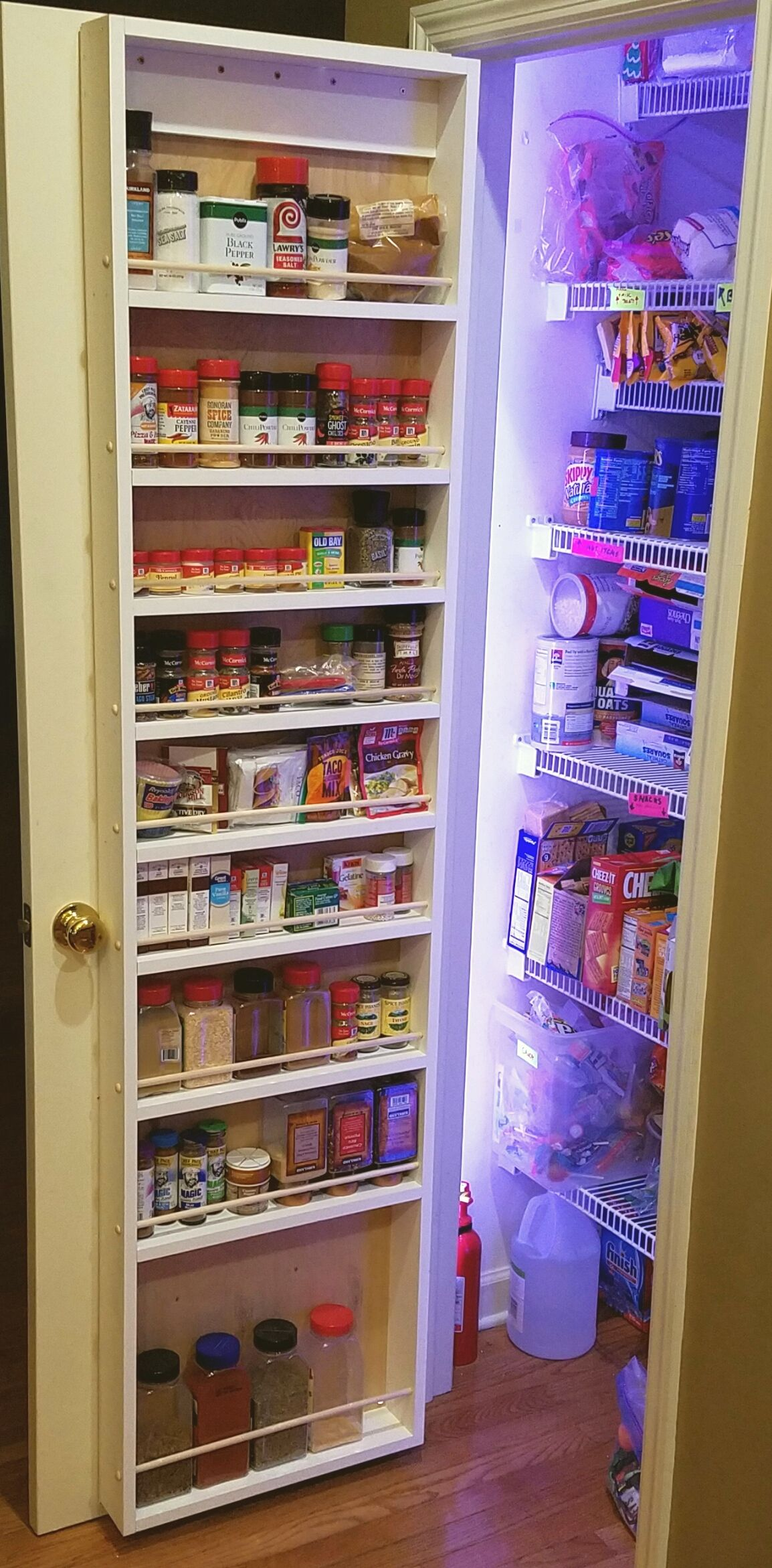 Add Spice Rack Of Pantry Door Ana White