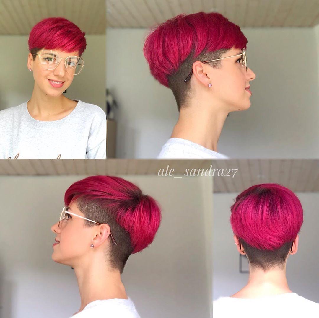 Bunte Farben für kurze Haare – Frisuren