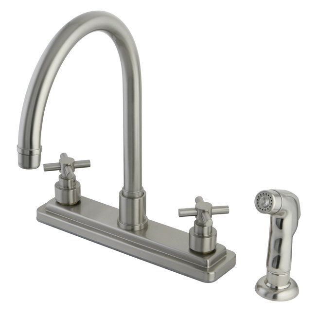 Kingston Brass KS879EX Elinvar Centerset Kitchen Faucet with Deck – All Metal Kitchen Faucet