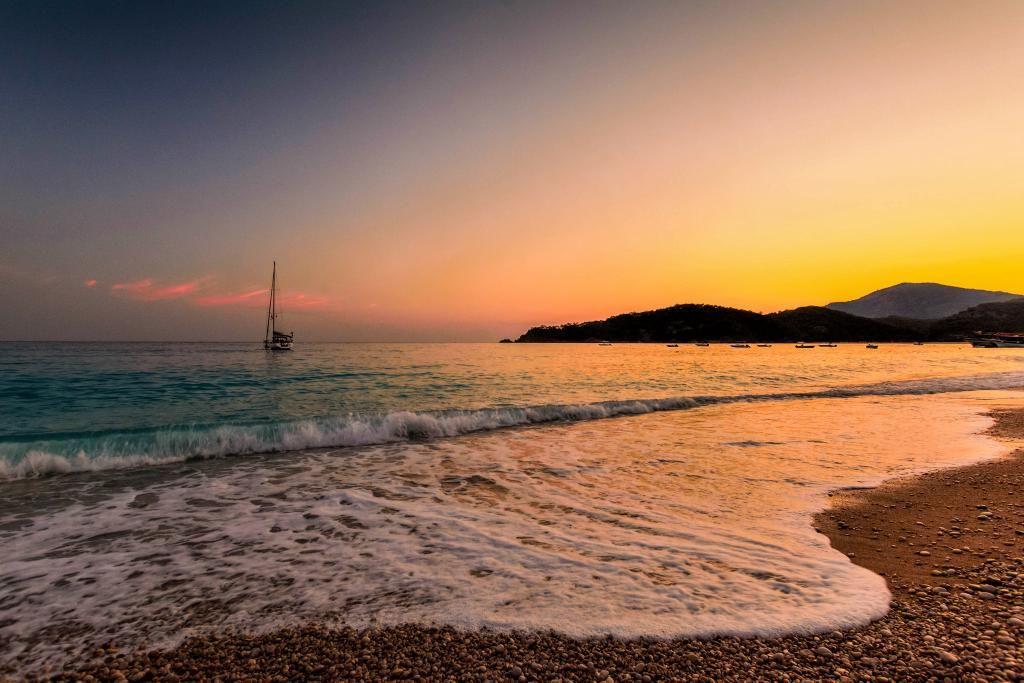 Incredible sunset at #Oludeniz beach