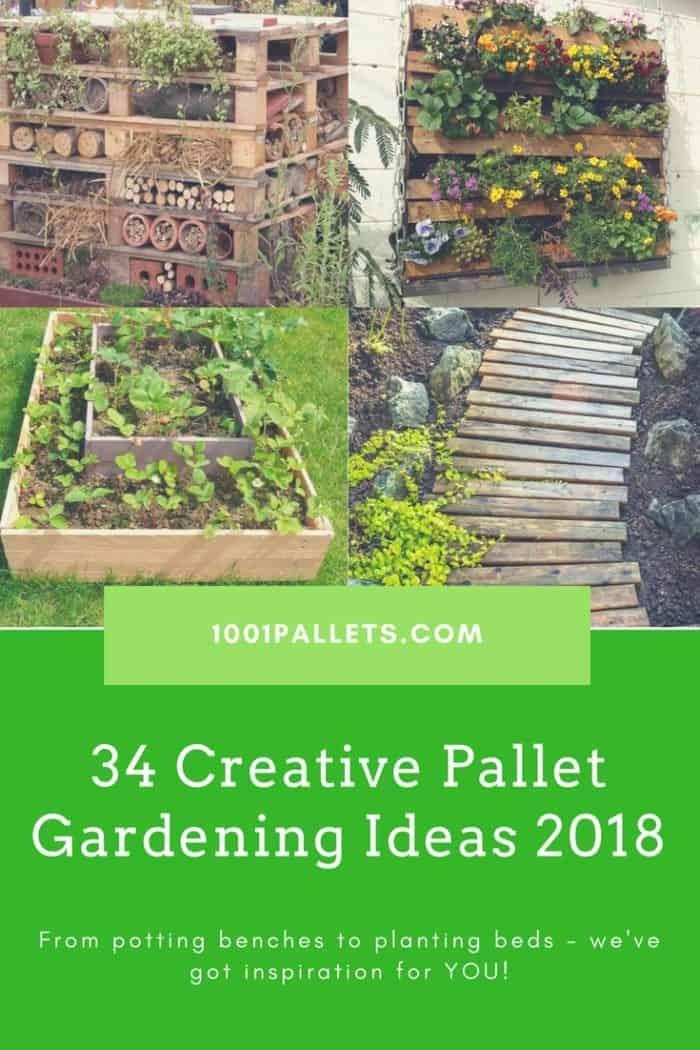 Top 34 Creative Pallet Garden Ideas For Springtime!   Pallet potting ...