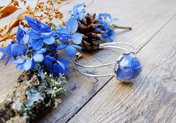 blue hydrangea terrarium by SiamesaProject