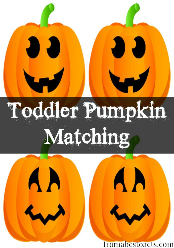 Tot School Printable: Toddler Pumpkin Matching | Halloween ...