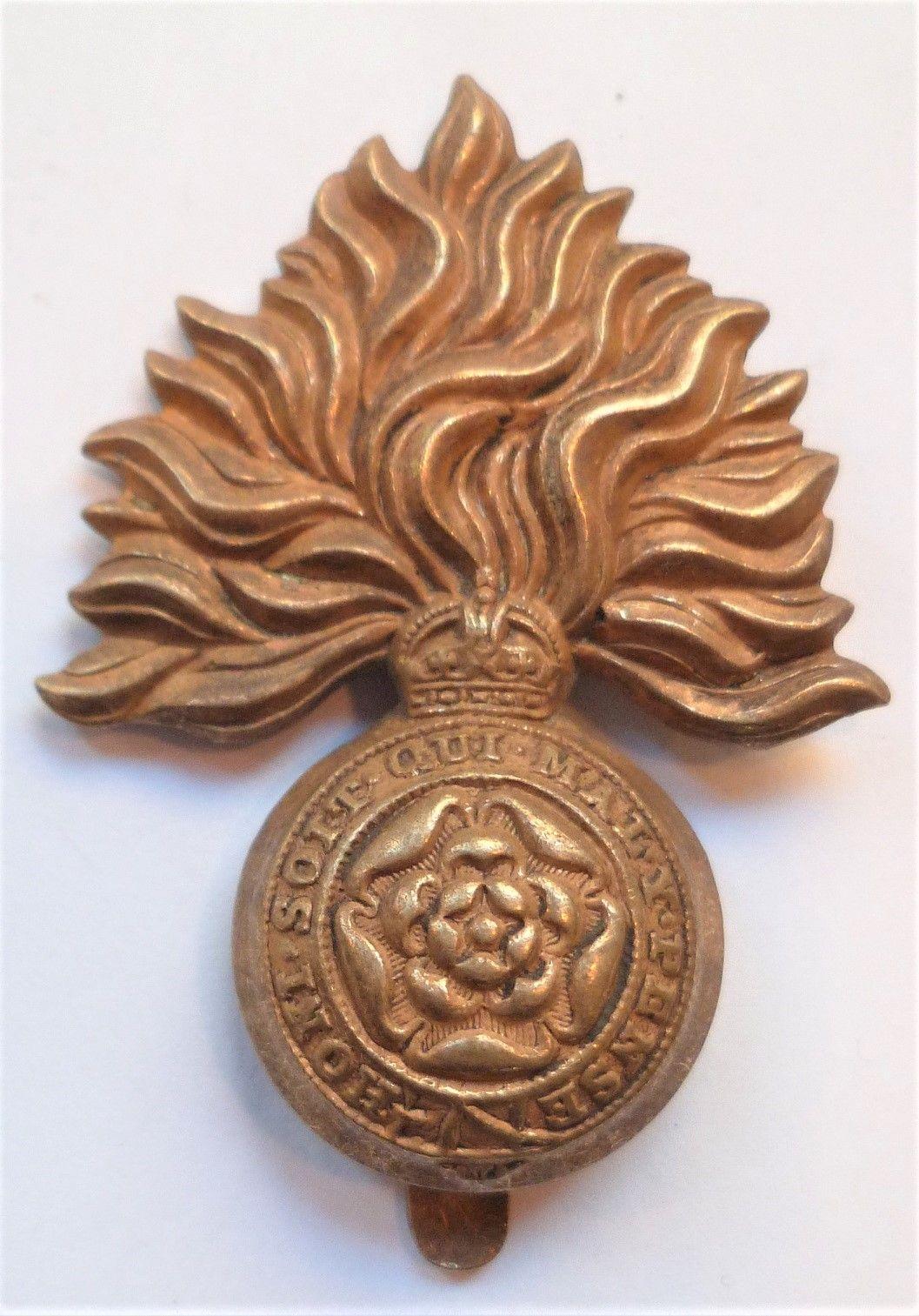 WW1 Royal Fusiliers Cap Badge military British Army World