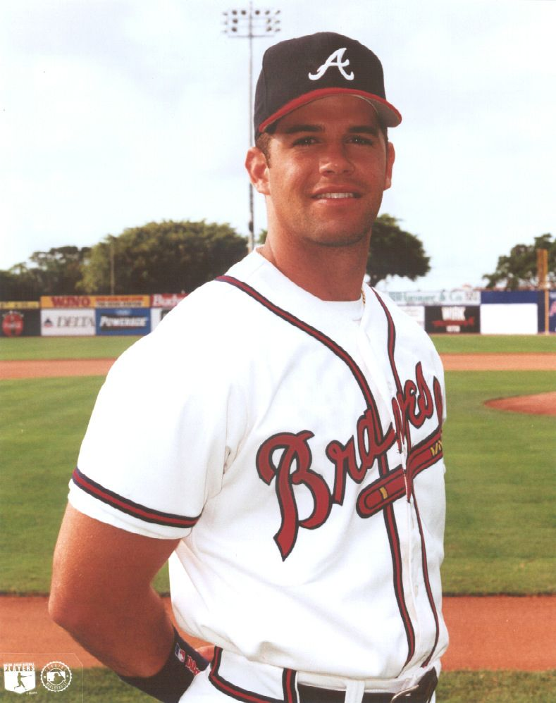Javy Lopez With Atlanta Braves 1992 2003 Atlanta Braves Braves Baseball Atlanta Braves Baseball