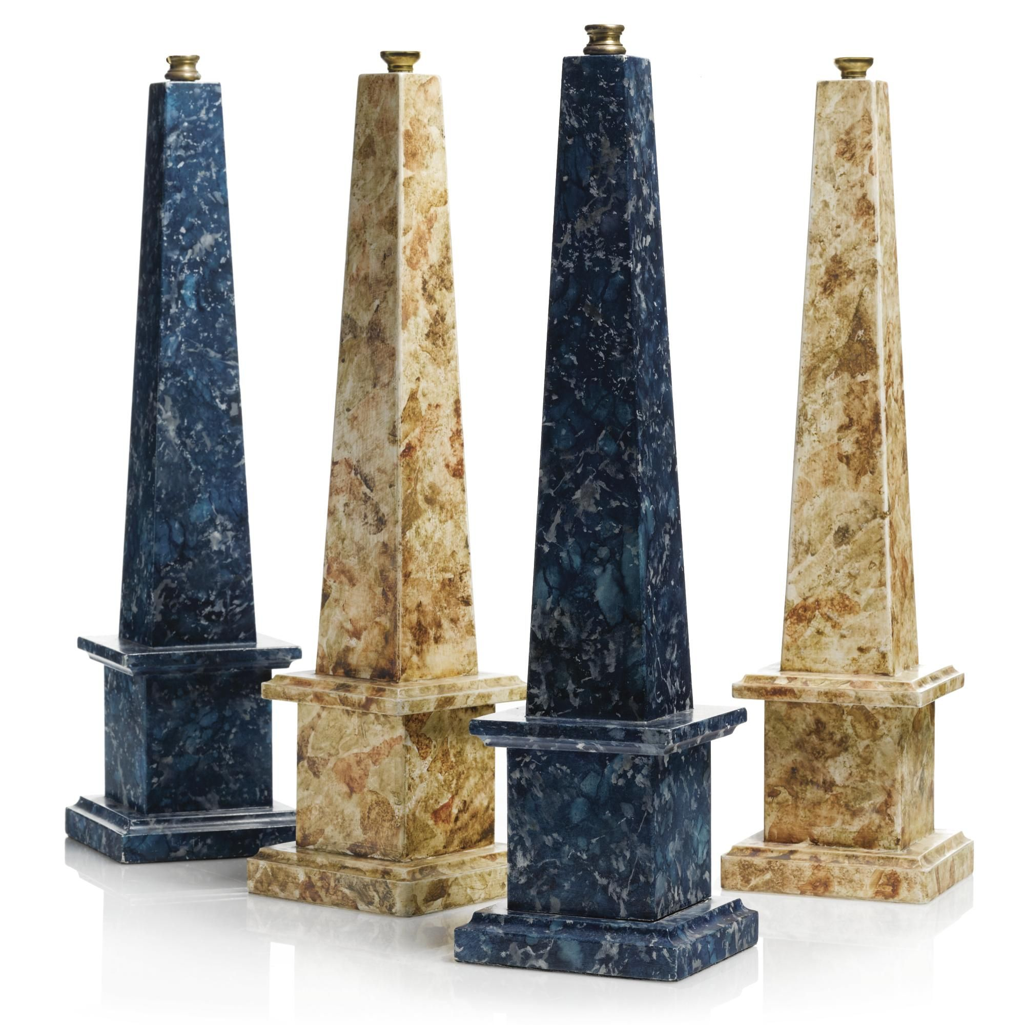 Two Pairs Of Imitation Marble Obelisks Modern Estimate 200 300