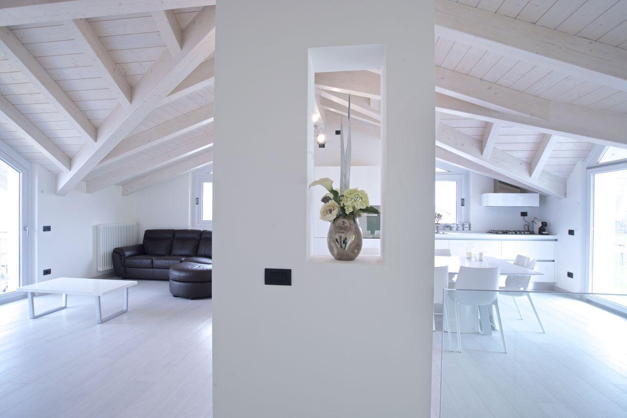Cucina e #living in #mansarda - Arredi by Bm Italia #attic #kitchen ...