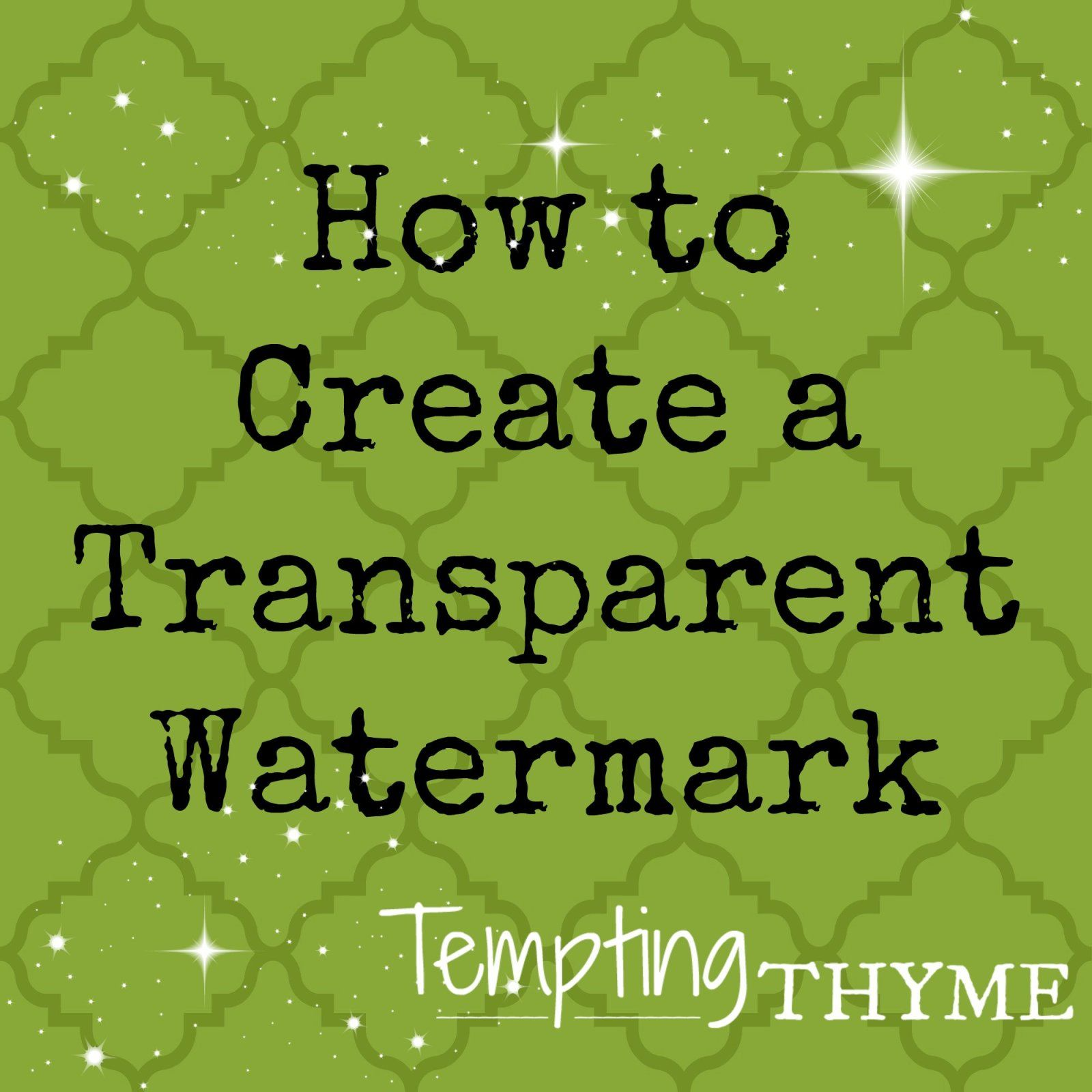 How to Create a Transparent Watermark! Photography