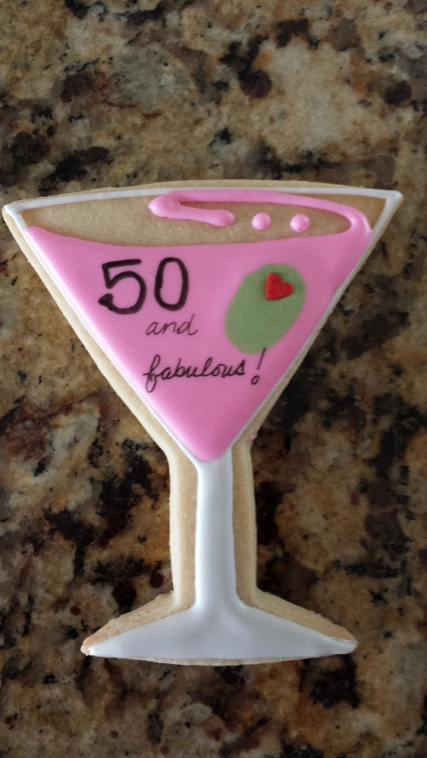 50th Birthday Cookie #moms50thbirthday 50th Birthday Cookie #moms50thbirthday