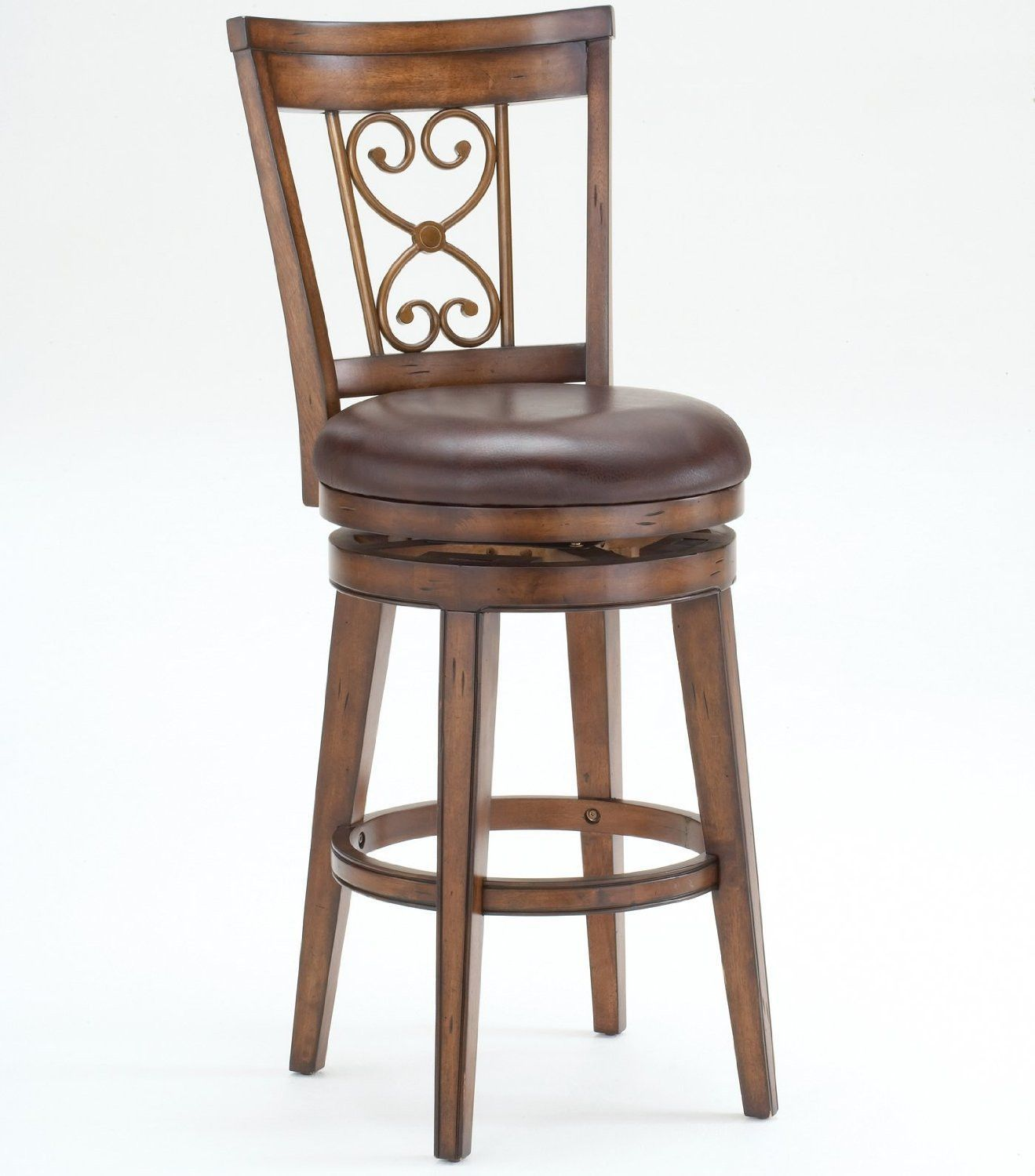 Hillsdale Furniture 4685 830S Villagio Swivel Bar Stool Scroll