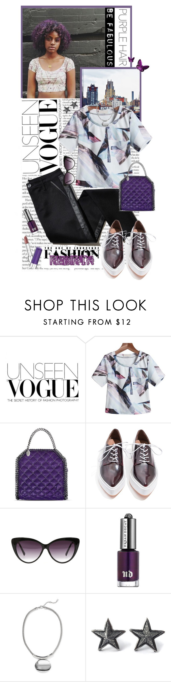 """""""Awesome Purple Hair"""" by shortyluv718 ❤ liked on Polyvore featuring TROA, STELLA McCARTNEY, Jeffrey Campbell, Eloquii, Urban Decay, ANNA, New York & Company and purplehair"""