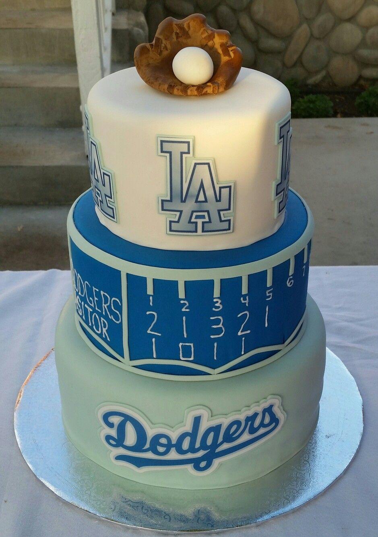 Dodgers Cake Chino American Little League Baking Fun