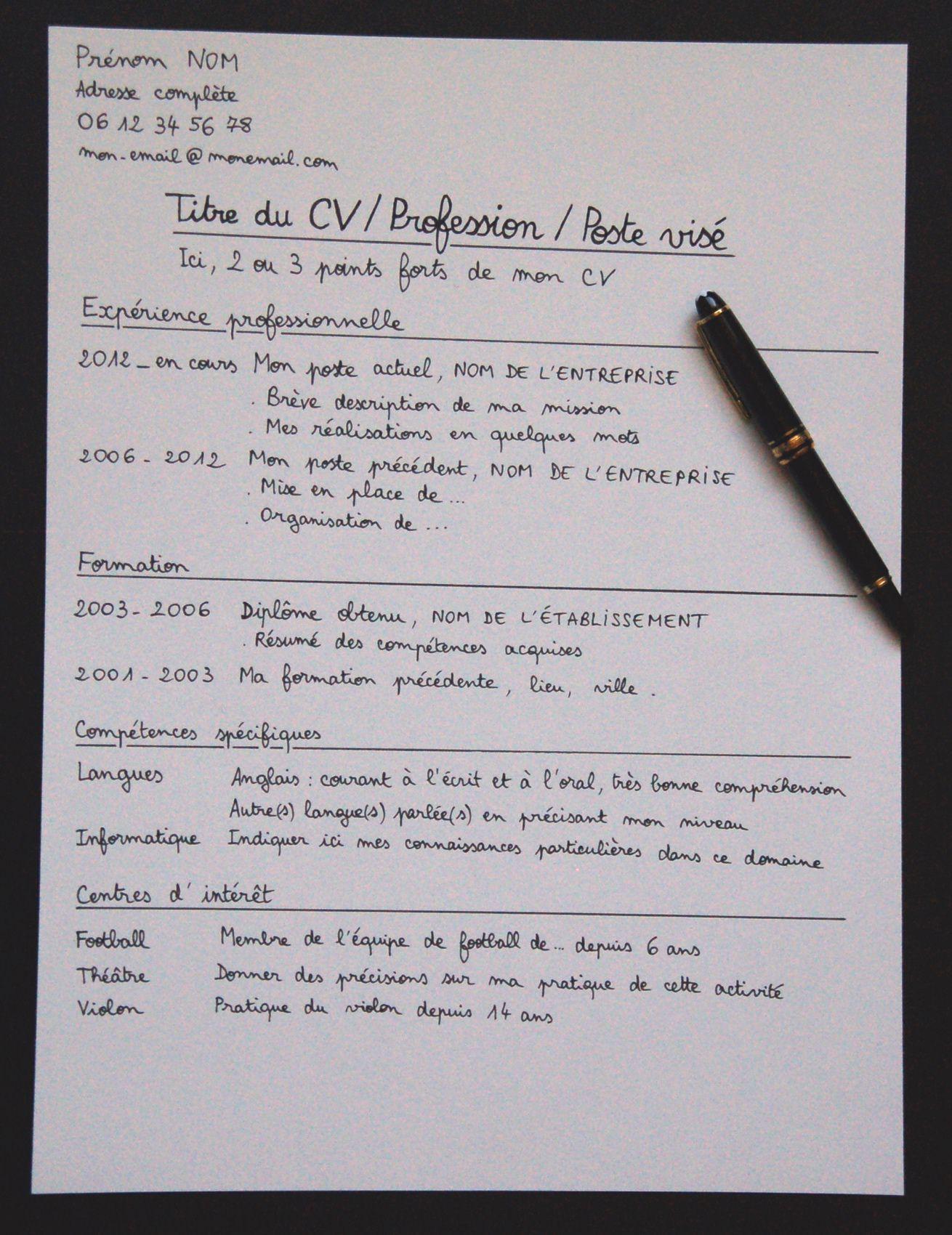 Episode 189 Preparer Un Cv Pour Postuler Dans Une Entreprise Classroom Bullet Journal Journal