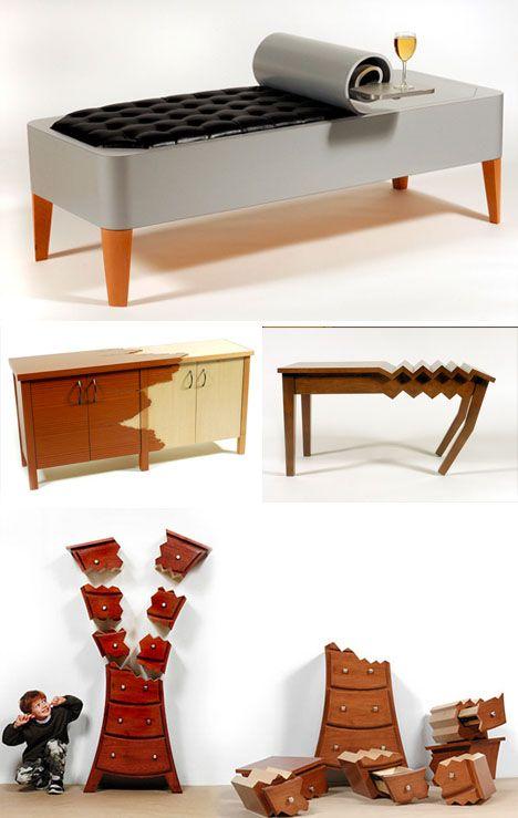 absurdist postmodern furniture series | Furniture, Study ...