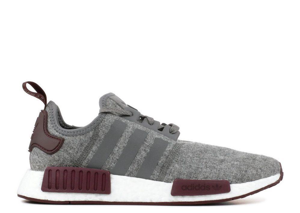 9c2defc0912a Adidaas NMD R1 Maroon White Grey Cq0761 2018 Popular Sneaker
