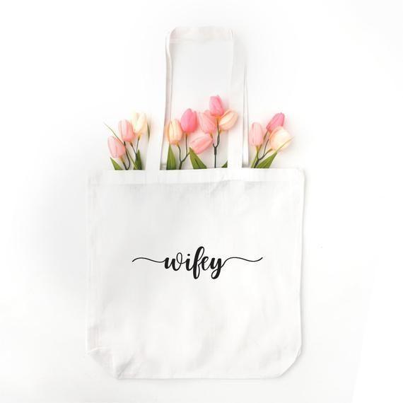 Wifey  Bride Tote Bag Honeymoon Bag Wedding Planning Bag Newlywed Gift Wedding Bag Gift for Bride  Wifey  Bride Tote Bag Honeymoon Bag Wedding Planning Bag Newlywed Gift...